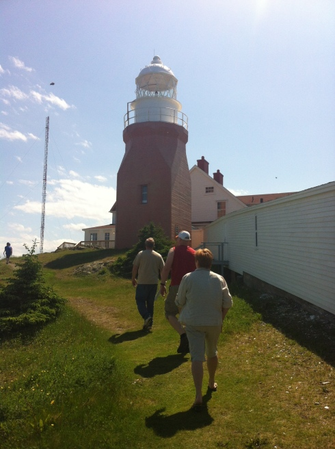 This lighthouse looks like a chocolate milk bottle. The view from the top is spectacular!